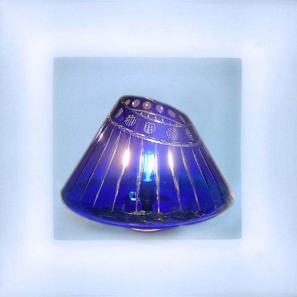 """Lamp """"Galaxy"""" cobalt blue"""
