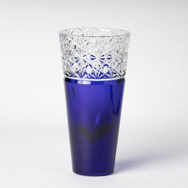 """Vase """"TL Diamant"""" bleu cobalt"""