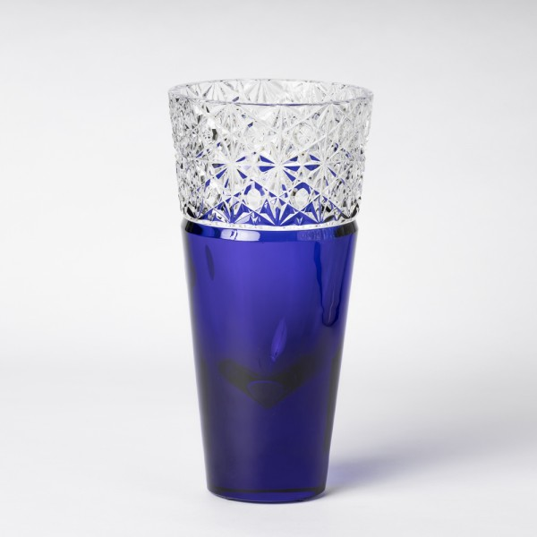 "Vase ""Tl Diamond"" Cobalt blue"