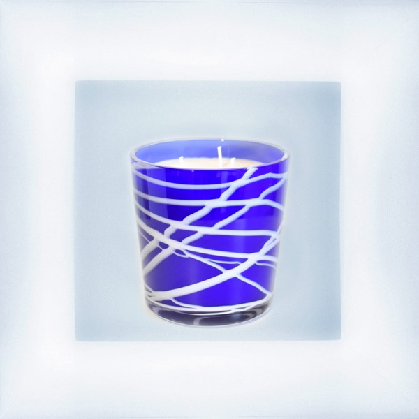 """Candle """"Abstract"""" cobaltblue"""