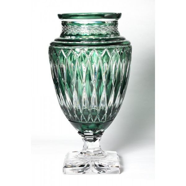 Green Jupiter Diamond cut vase