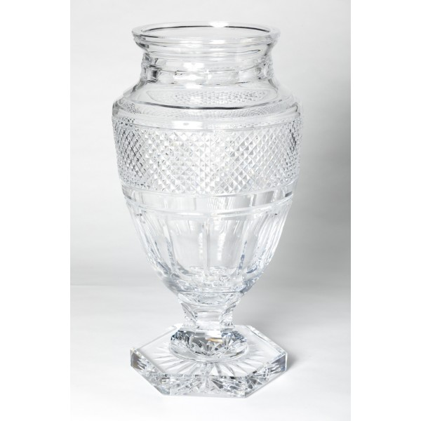 Jupiter clear Diamond cut vase