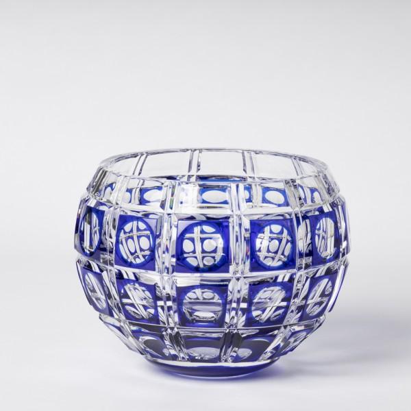 """Vase """"Boule à fleurs"""" bleu"""
