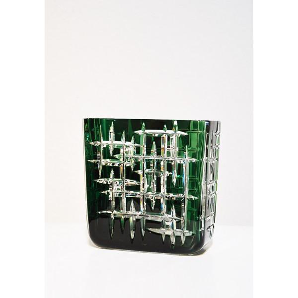 """Vase carré vert """"hommage..."""